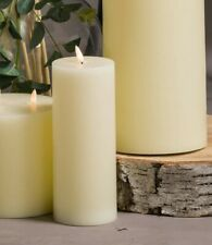 """Led Ivory wax PILLAR CANDLE natural glow size 3.5"""" by 9"""" realistic quality"""