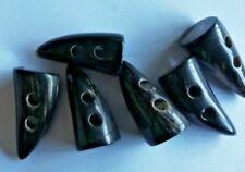 6 X 30-35mm Cuerno alterna Duffle trinchera, Nuevo, Original, 2 orificios, venoso