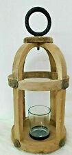 Deko Laterne Holzlaterne Windlicht Kerzenhalter Kerzenständer Holz Mit Griff