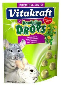 Vitakraft Chinchilla Dandelion Drops 5.3oz (Free Shipping in USA)