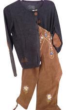 Trachtenstrickjacke Strickjacke Trachten Jacke Damen Sweater Grau XL Baumwolle