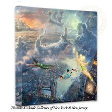 "TINKER BELL & PETER PAN Wrap - Thomas Kinkade 14"" x 14"" Wrapped Canvas"