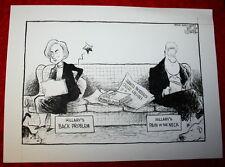 BILL & HILLARY CLINTON JUANITA BROADDRICK MONICA LEWINSKY '99 POLITICAL CARTOON