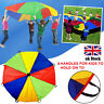 2M Kids Play Multi-color Parachute Outdoor Game Exercise Sport Toys 8 Handles IL
