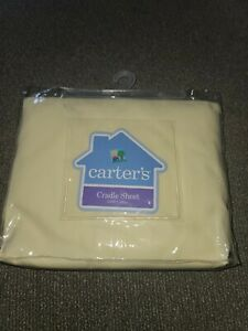 """NEW VINTAGE 2005 YELLOW CARTERS CRADLE SHEET 18""""X36"""" (W)"""