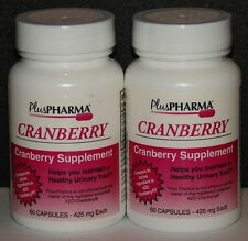 PlusPharma Cranberry Supplement 425mg Capsules (Compare to AZO Cranberry) 120ct