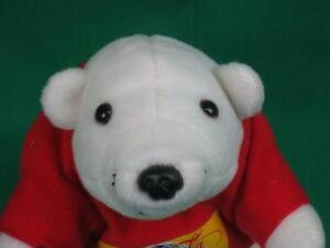 WORLD OF COCA-COLA LAS VEGAS REDSHIRT SODA BOTTLE WHITE POLAR BEAR PLUSH STUFFED