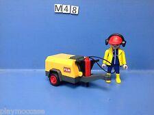 (M48) playmobil ouvrier et son marteau piqueur 3270