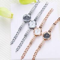 NEUE Mode Mädchen Damenuhr Armbanduhren Edelstahl Analog Luxus Bracelet Uhren