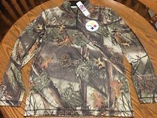 Pittsburgh Steelers NFL Men's Camo TX3 Cool Quarter Zip Jacket Size Large - NWT