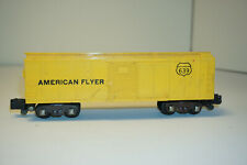 Vintage AMERICAN FLYER #639 Yellow Box car