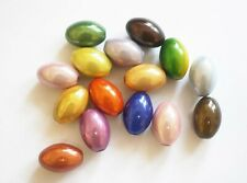 15 Miracle Beads with 3 D Illusion Effect- Mix - Oval
