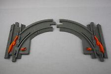 Fisher Price Geotrax Eisenbahn Weiche Weichenpaar grau links rechts Schienen