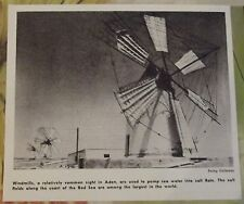 1962 windmills a relatively common sight in Aden. Yemen