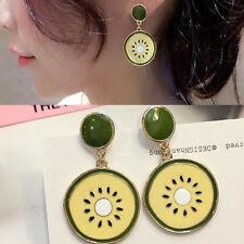Rhinestone Kiwi Ear Stud Earrings Jewelry 1 Pair Alloy Fashion Women Crystal