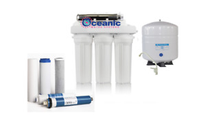 OCEANIC ELITE REVERSE OSMOSIS WATER FILTER HOME SYSTEM 100 GPD with UV 6 Stages