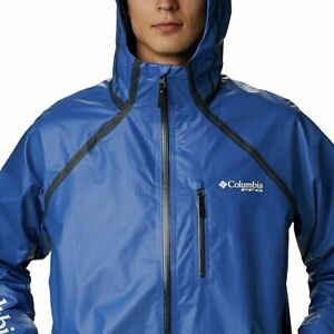 Mens Columbia PFG Terminal ODX OutDry Extreme Waterproof Jacket Blue Sz XL $150
