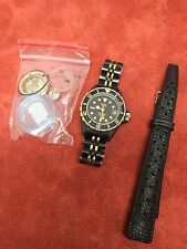 Vintage Ladies Heuer 1000 Submariner Dive Watch Black Coral SS PVD Black 980.028