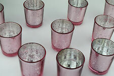 30 Pieces Rose Pink Mercury Tea Light Candle Holders  Wedding Decor