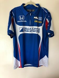 Impact Indy Car Dale Coyne Racing Red White Blue 1/4 Zip Shirt - Size Large *