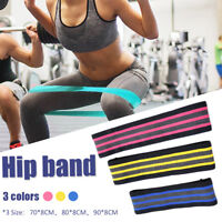 Resistance Loop Yoga Bands Hip Exercise Elastic Band Gym Fitness Workout Stretch