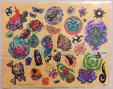 "Tattoo Flash Single Sheet Print by Tattoo Johnny Various Small Designs 11"" X 14"""