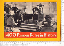 7584 Chase & Sanborn Coffee 1934 booklet, 400 Famous Dates in History