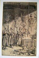 ILLUSTRATIONS HOSEKIAH SHOWS HIS TREASURE INK/WASH CONRAD METZ (ATTRIB) C1795