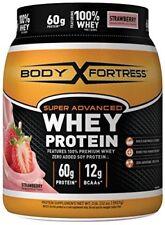 Body Fortress Super Advanced Whey Protein Powder, Strawberry, 2 Pounds