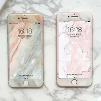 Creative Marble Stone 9H Tempered Glass Screen Protector for iPhone 6S 8 7 Plus