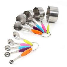 10Pcs Stainless Steel Measuring Cups & Spoons Teaspoon Set DIY Baking Tools