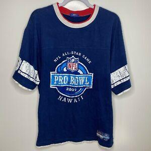 Reebok T-Shirt Men's Size XL Blue NFL All-Star Game Pro Bowl 2009 Hawaii