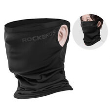 RockBros Sports Ice Silk Scarf Neck Warmer Headband with Hanging Ear Black