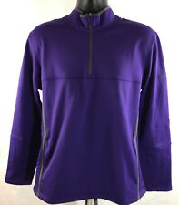 $70 Nike Therma Fit 1/2 Zip Golf Fleece Sz MEDIUM Sweater Purple 686085 547 NEW!