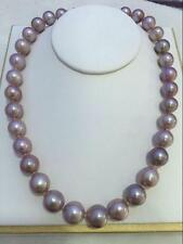 "18"" Stunning AAAA 15mm real natural south sea purple pearl necklace 14k gold"