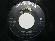 Homer and jethro 45 1962 She thinks I don't care / Are you kissing more now EX +