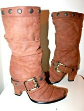 Pompili brown mid-calf boots Eur 37 US-Aus 6.5 UK 4.5 USED  #406