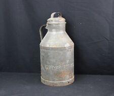 Vintage Gallon Galvanized Steel Edgemar dairy Milk Can Pail Bucket cream handle