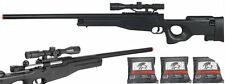 *420 FPS* Bolt Action Tactical Airsoft Sniper Rifle w/ Scope + 3000 .20g 6mm BBs