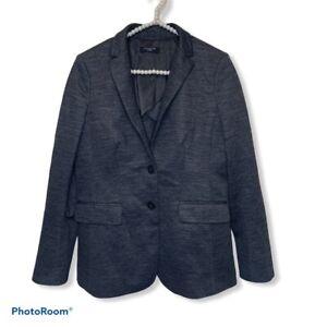 Ann Taylor grey heathered blazer size Petite Medium