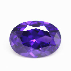 Purple Sapphire 15x20mm 29.53cts Oval Faceted Cut Shape AAAAA VVS Loose Gemstone