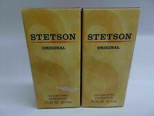 Stetson Original Cologne - .75 Oz Each LOT OF 2