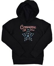Converse All Star Printed Pullover Hoody Girls Black 6-7 Years