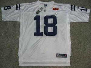 Peyton Manning Indianapolis Colts Super Bowl XLIV White XL Reebok Replica Jersey