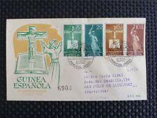 Guinea espanola FDC 1958 christian jesús cruz Cross crucifix misionero c4150