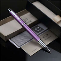 Luxurious Metal Good Parker IM Purple Silver Clip 0.5mm Fine Nib Rollerball Pen
