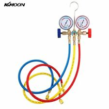 Refrigerant Manifold Gauge Set Air Conditioning Tools with Hose & Hook 4Gas Type