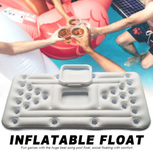 Pool Pong Table Inflatable Floatable Water Floating Summer Beer Party Water Pong