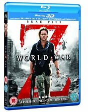World War Z (2013) Brad Pitt 3D + 2D Blu-Ray BRAND NEW Free Ship