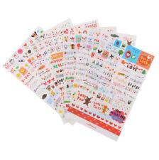 6Pcs Transparent Calendar Scrapbook Diary Book Decor Paper Planner Stickers